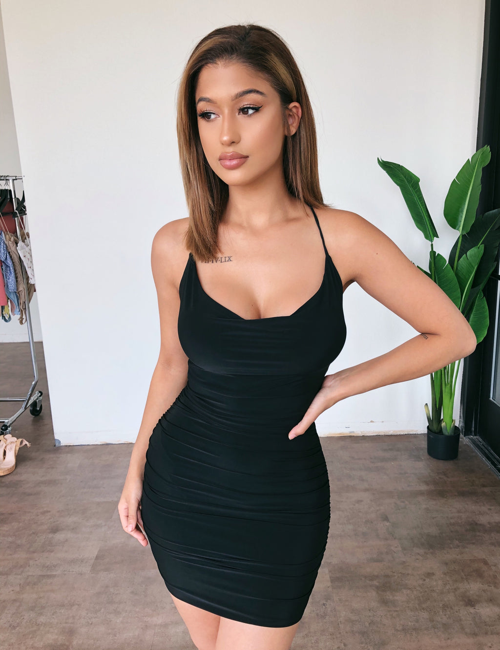 Olivia Cami Dress(Black)