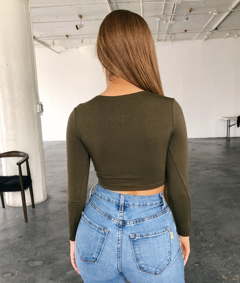 Patty Long Sleeve Top(Olive)