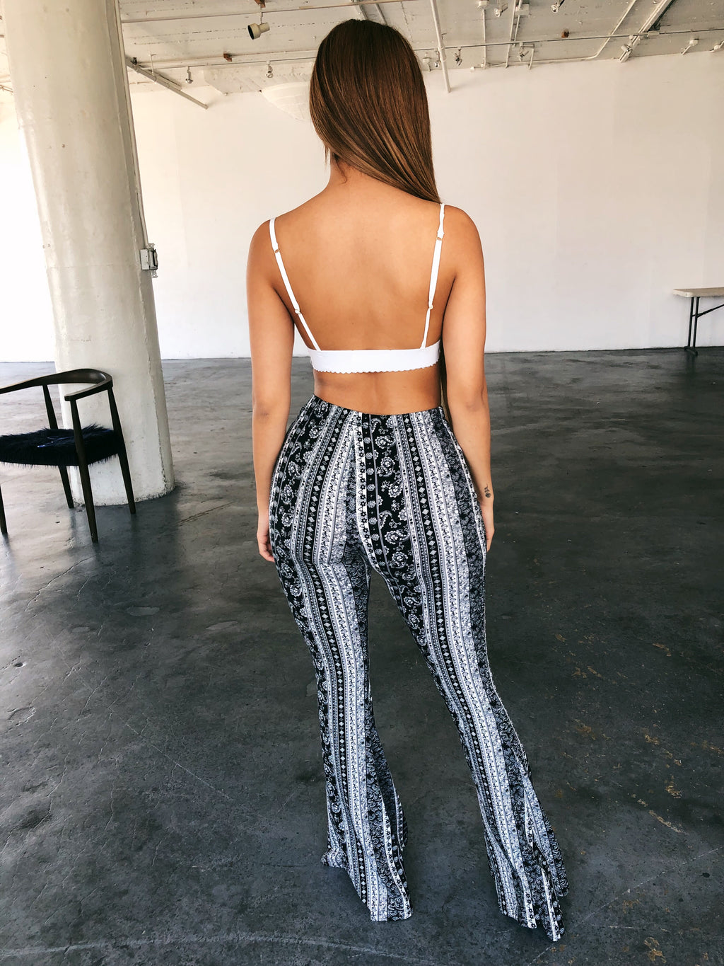 Becky Boho Pants(Black/White)