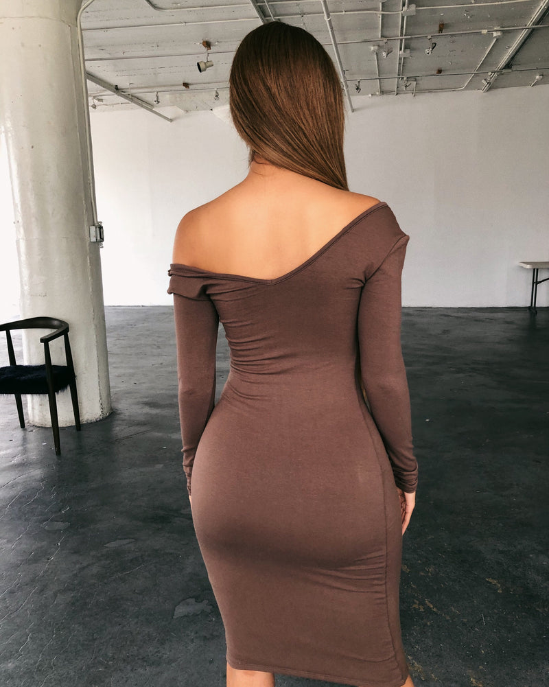 Grace Long Sleeve Dress(Mocha)