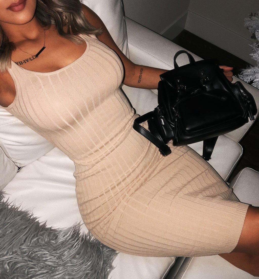 Roxi Tank Dress(Soft Taupe)