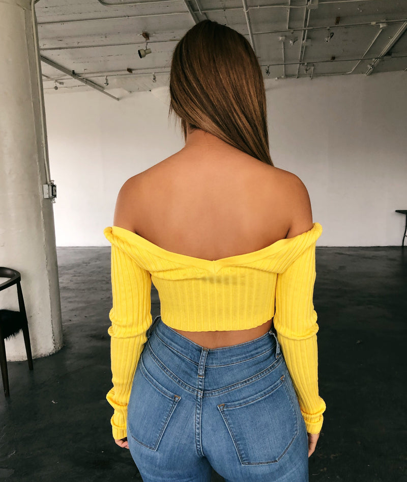 Tammy Long Sleeve Top(Yellow)