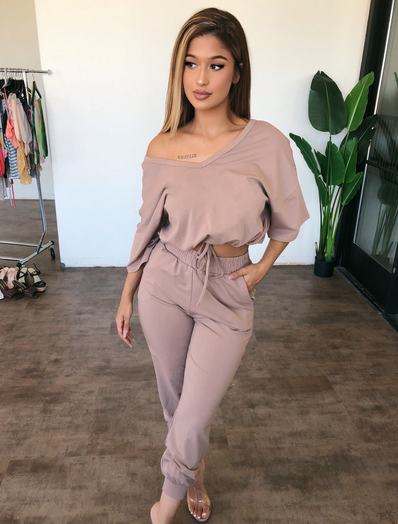 London Short Sleeve Set(Mocha)