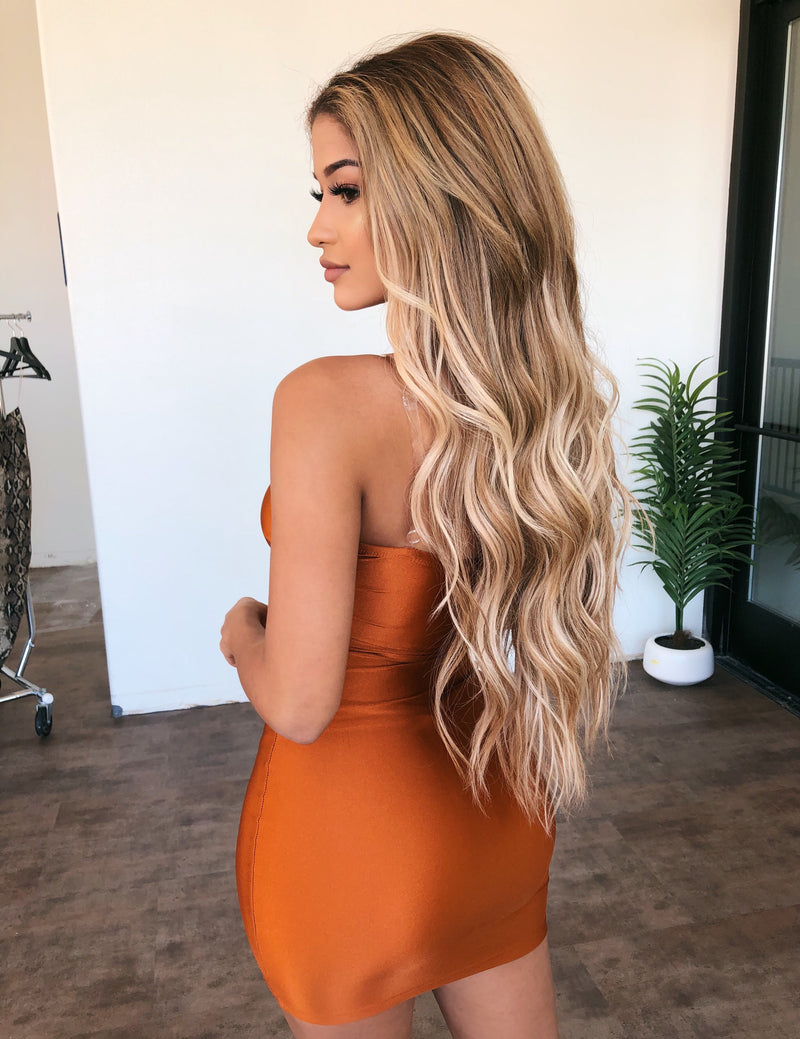Rylie Cami Dress(Rust)