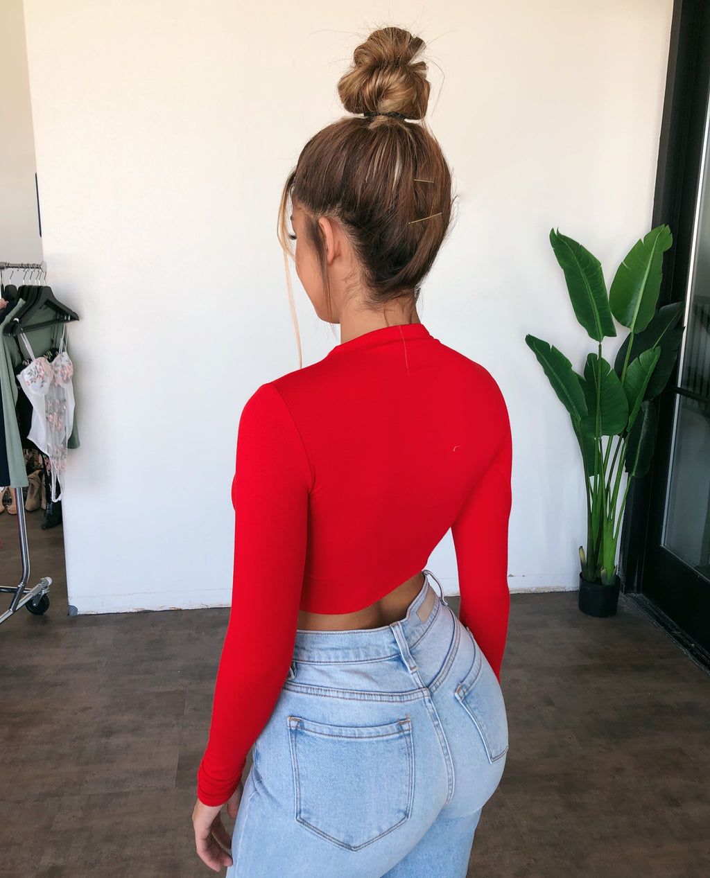 Abby Long Sleeve Top(Red)