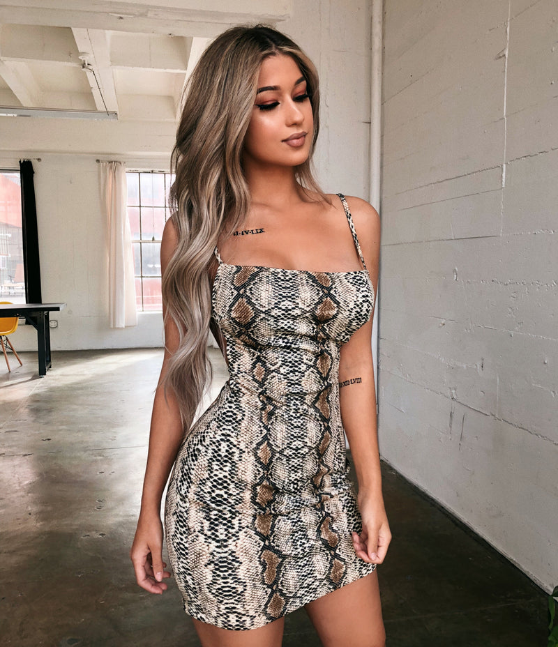 Bonnie Snake Print Dress