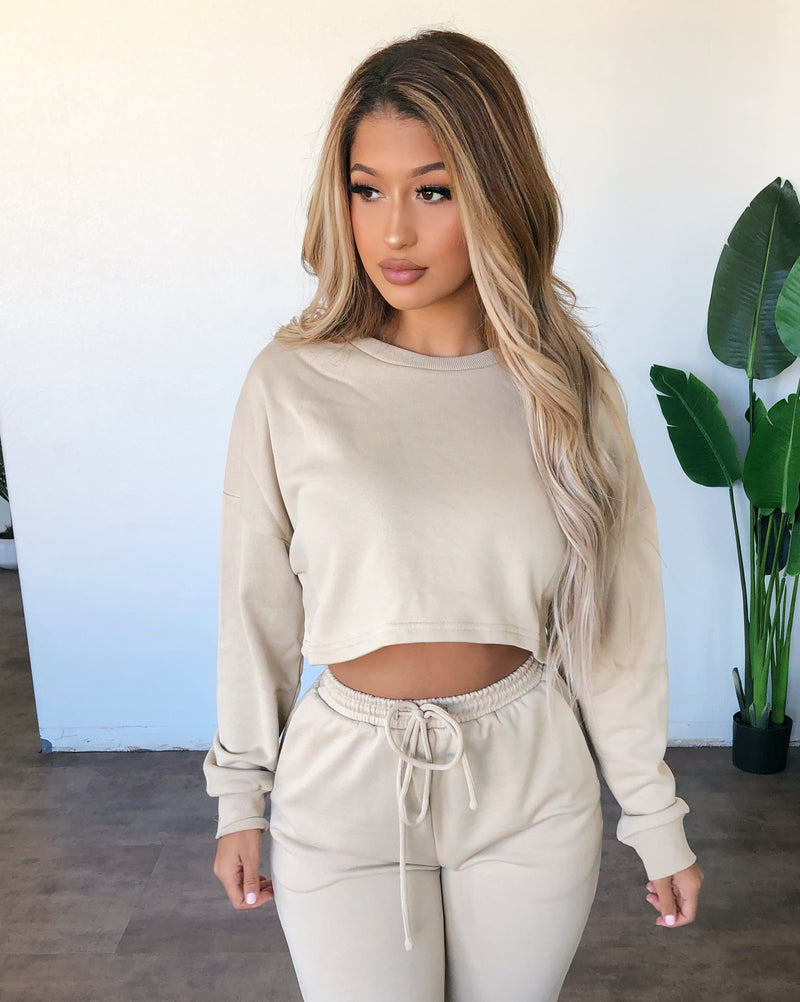 Emmy Sweater Top(Tan)