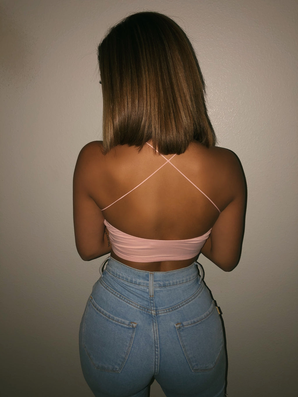 Jazzy Cami Crop Top(Light Pink)FINAL SALE