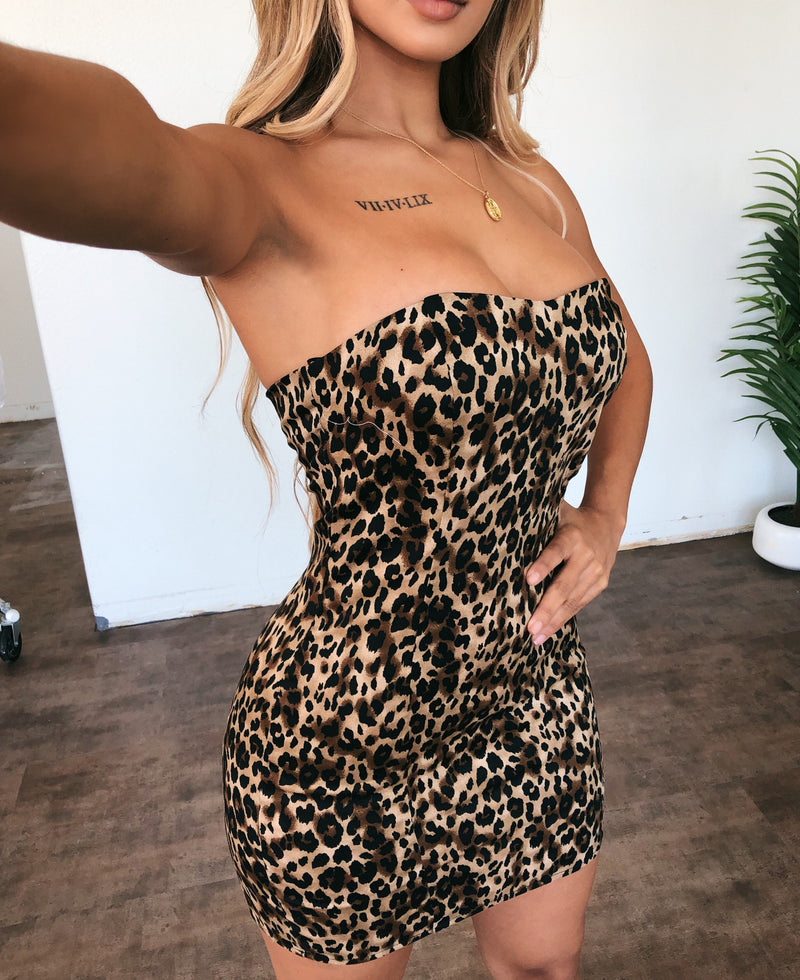 Rayleen Leopard Print Dress
