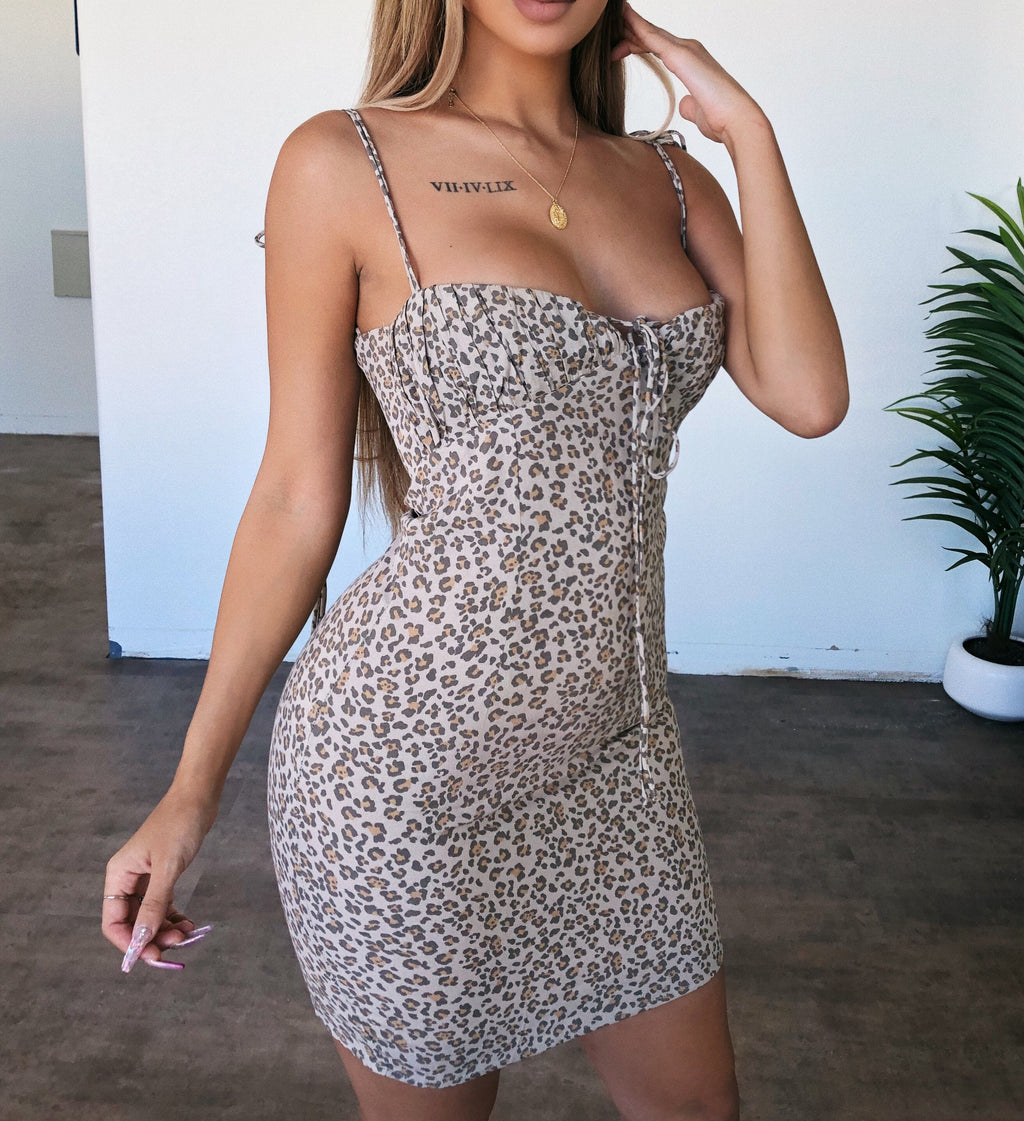 Angela Cami Cheetah Print Dress