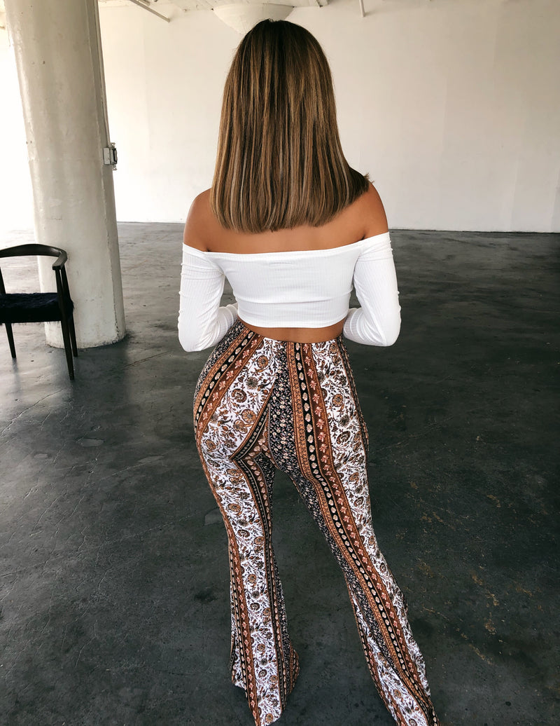 Chloe Bell Bottoms(Brown)