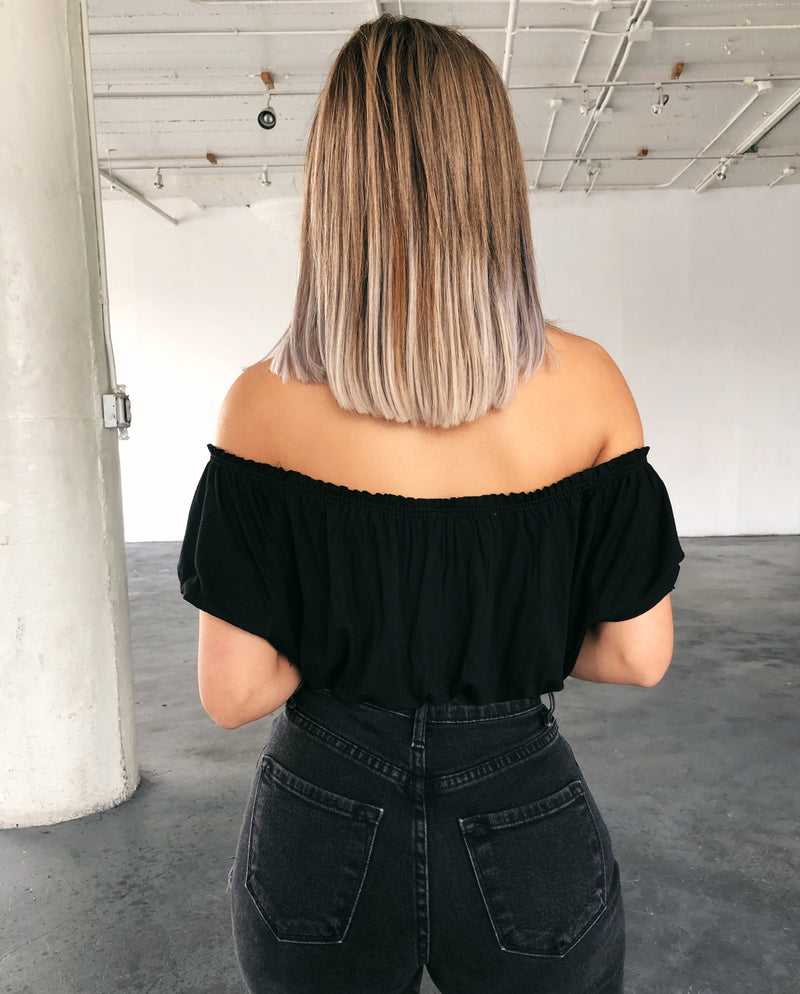 Roxanne Off Shoulder Top(Black)