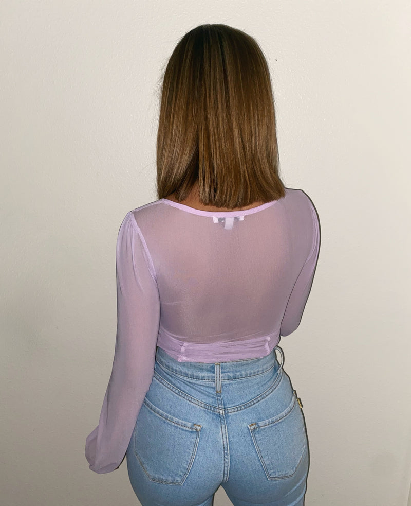 Harper Long Sleeve Top(Lavender)FINAL SALE