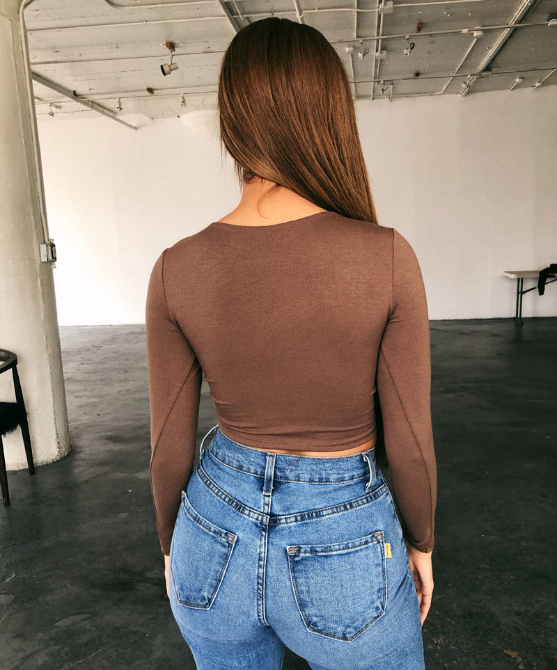 Patty Long Sleeve Top(Mocha)