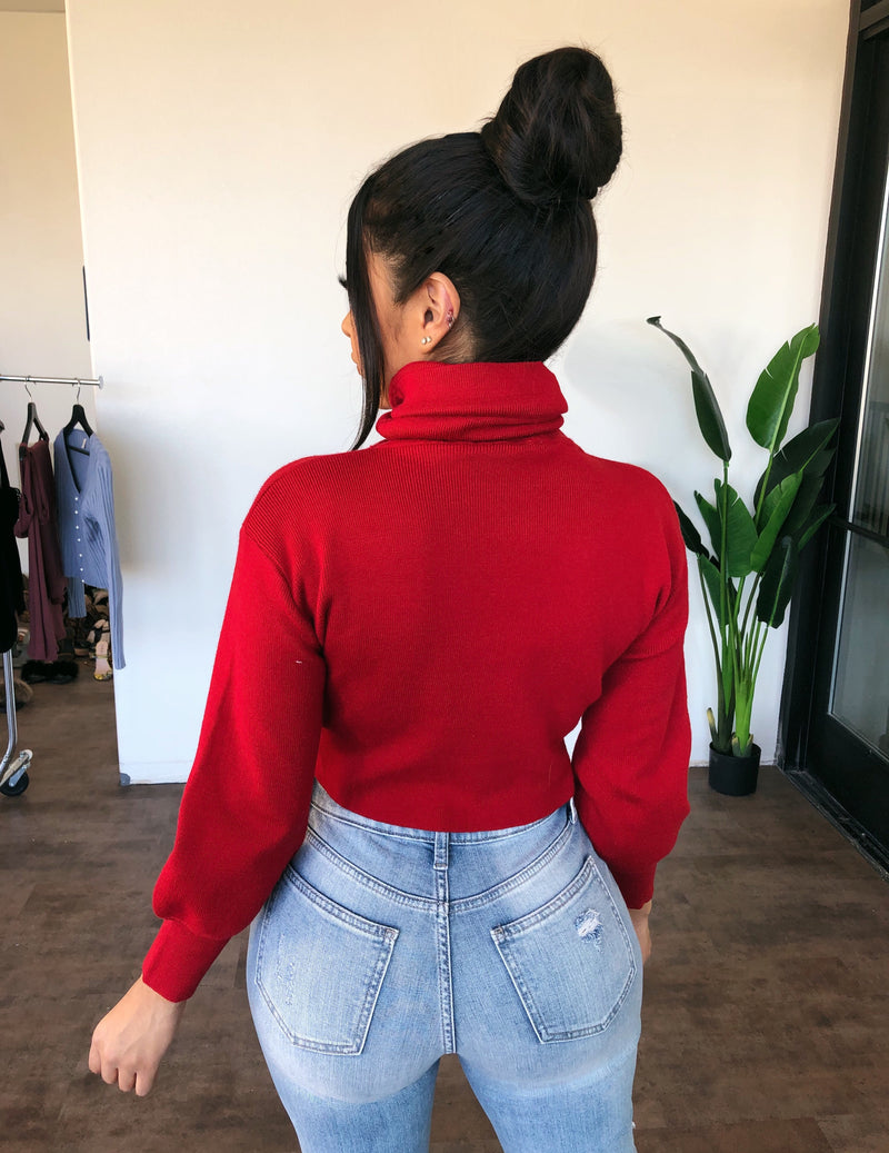 Bonnie Turtle Neck Sweater(Red)