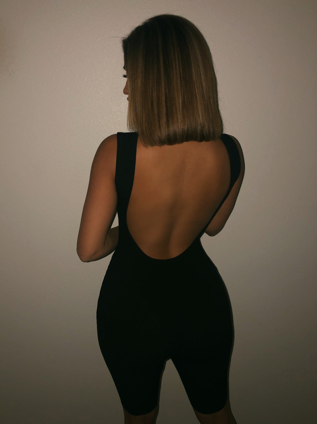Yvonne Open Back Jumpsuit(Black)FINAL SALE