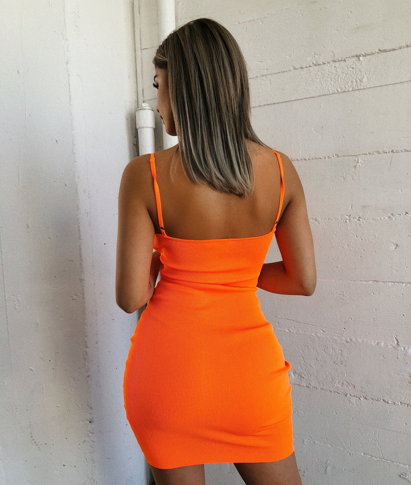 Ruby Cami Dress(Neon Orange)