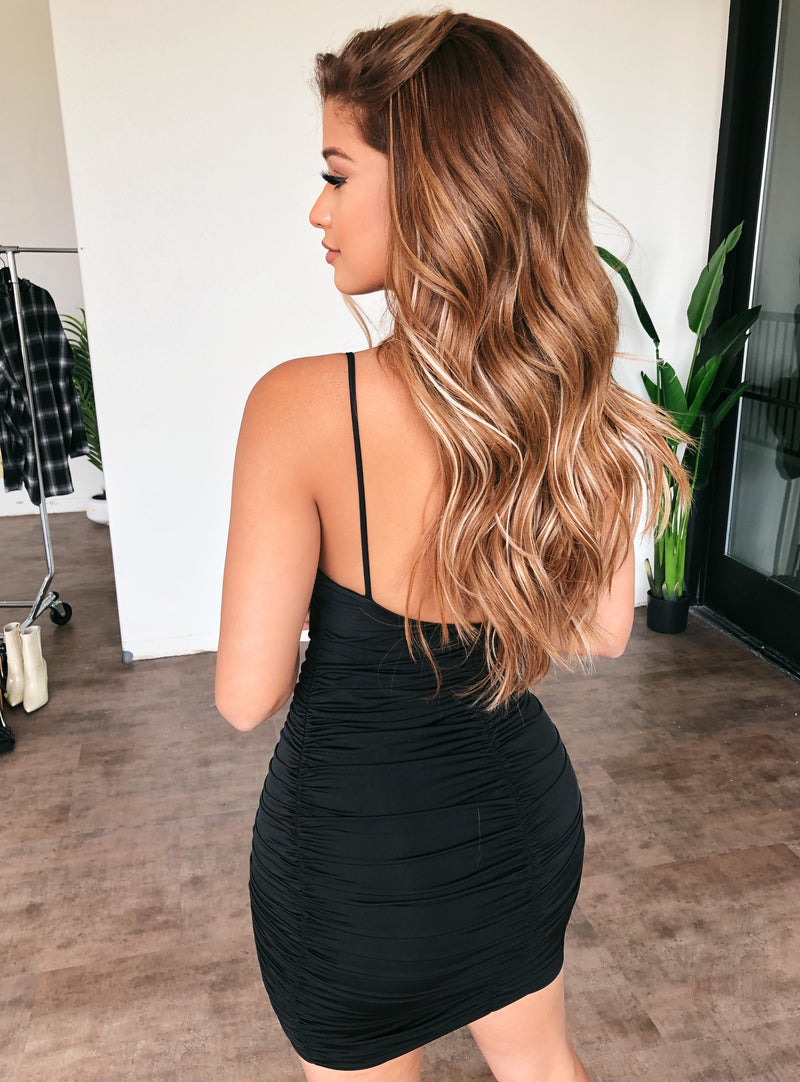 Avery Dress(Runs Small/Size Up)(Black)