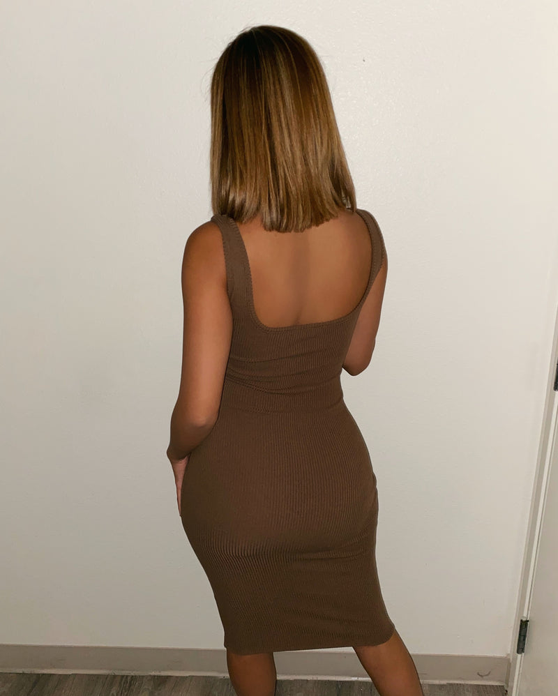 Valentina Tank Dress(Chocolate)FINAL SALE
