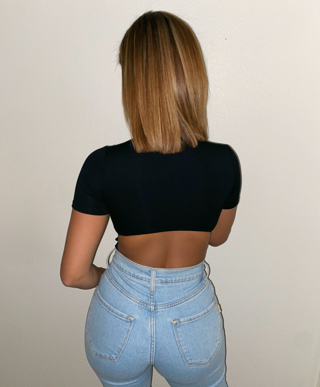 Sarah Open Back Bodysuit(Black)FINAL SALE