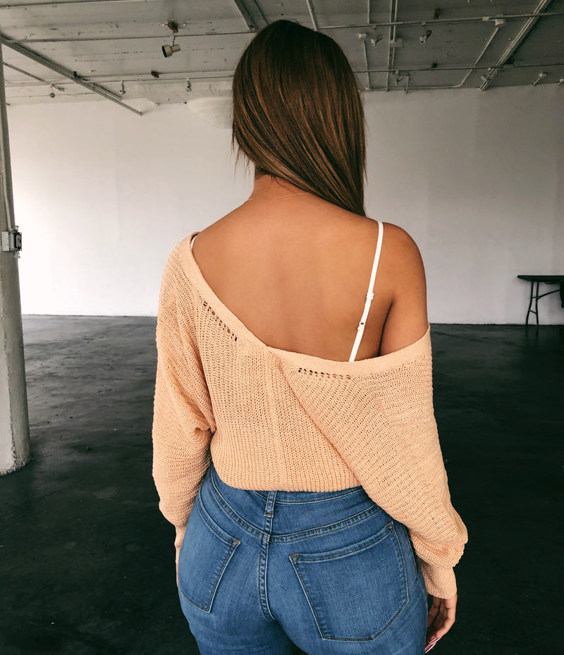 Myla Knit Sweatshirt(Peach)