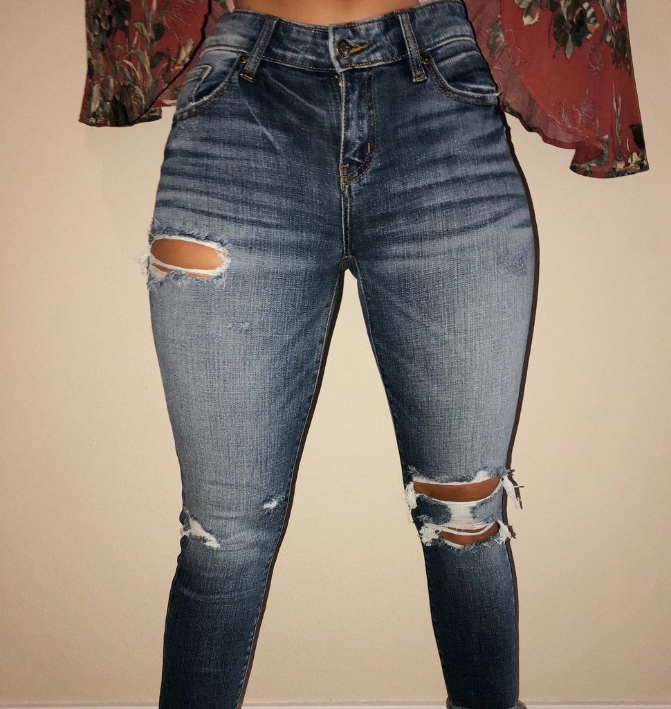 Josie Mid Rise Jeans by Ootdfash