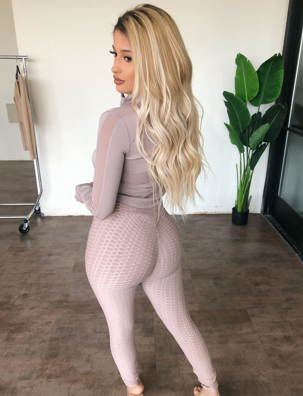 Diana High Rise Leggings(Pink/Mocha)