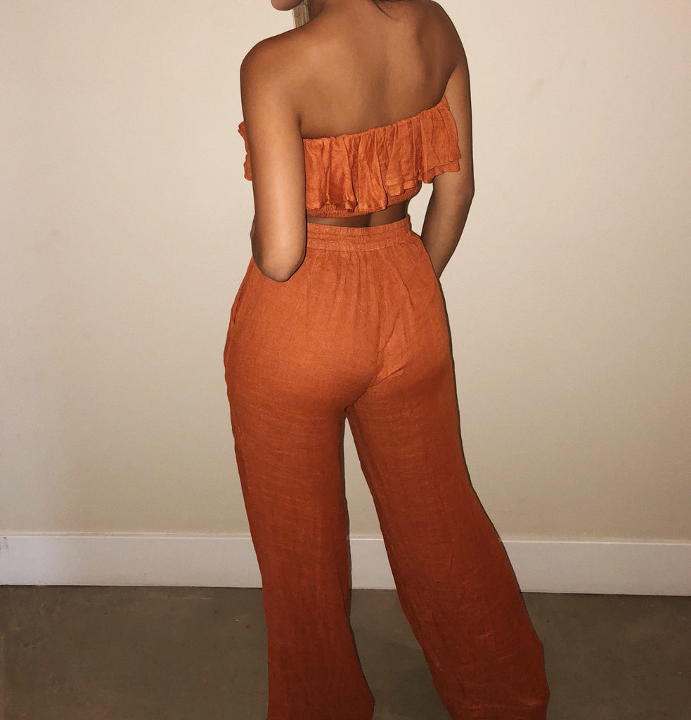 Amanda Matching Set(Burnt Orange)