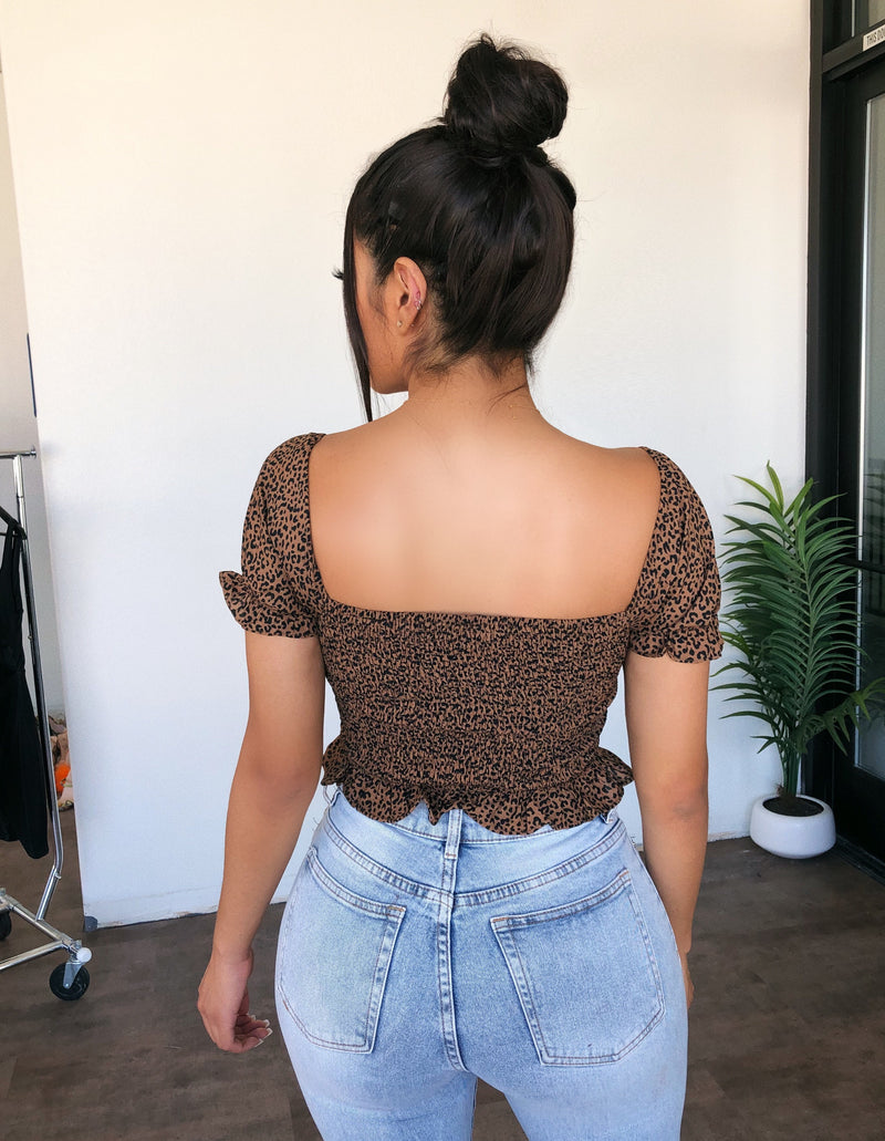 Sufany Cheetah Print Top(Mocha)