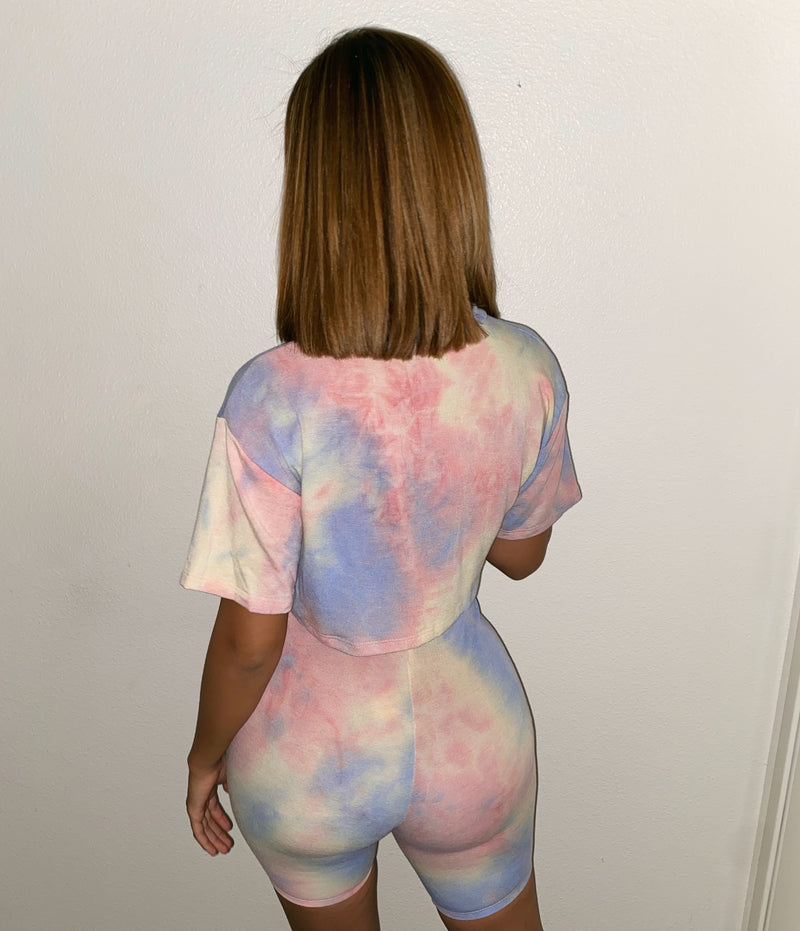 Toni Tie Dye Set(Bubble Gum Pink)FINAL SALE