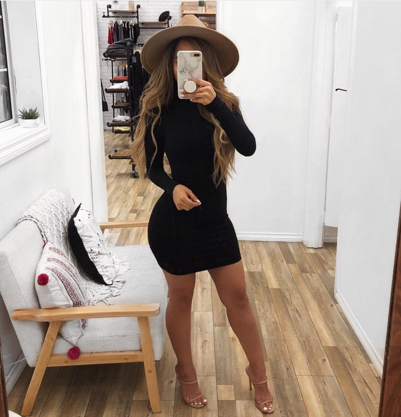 Abby Long Sleeve Dress(Black)