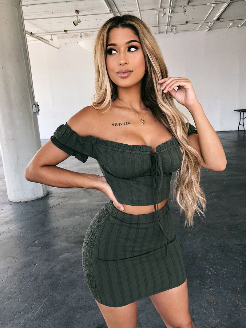Michelle Matching Set(Olive)