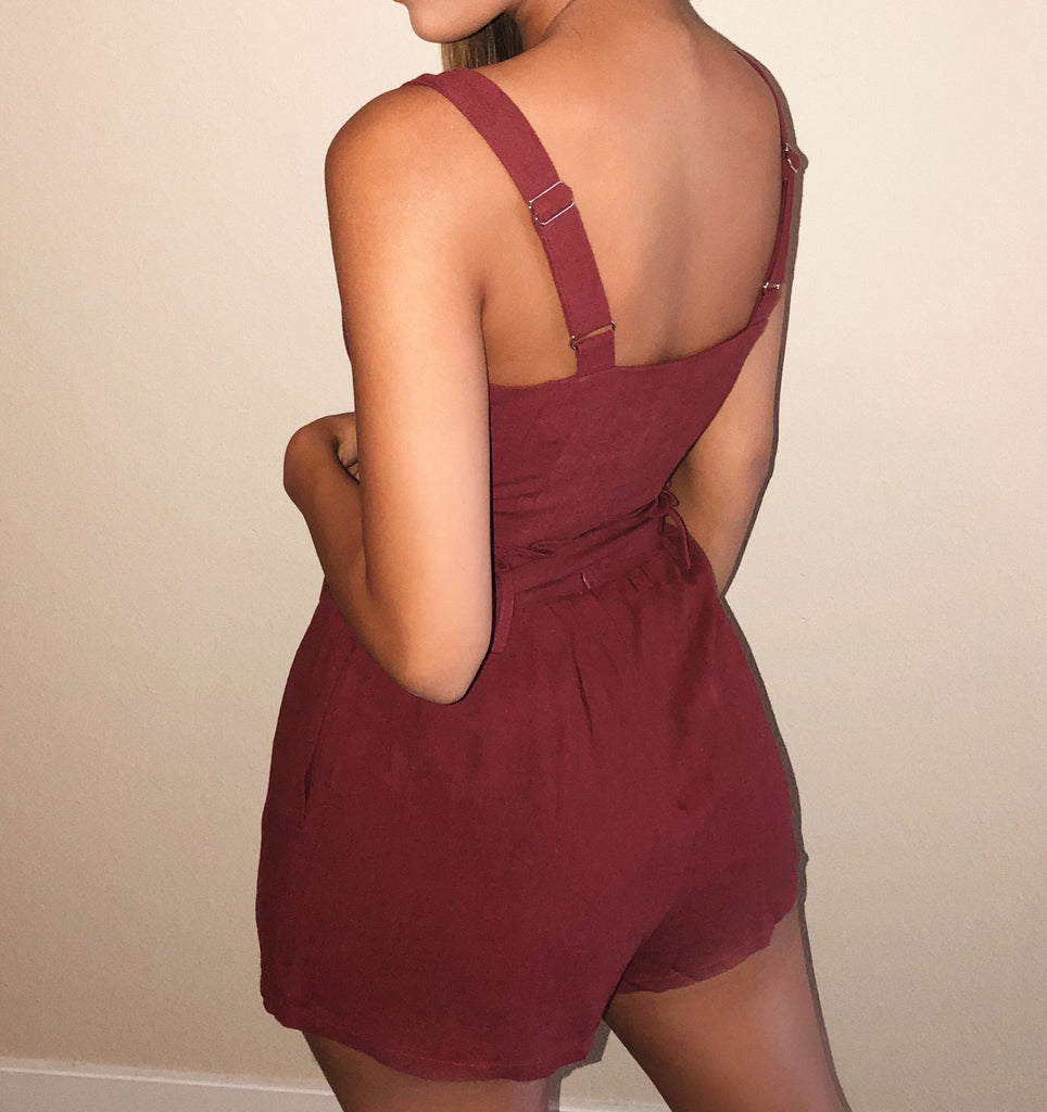 Kinley Matching Set(Burgundy) by Ootdfash