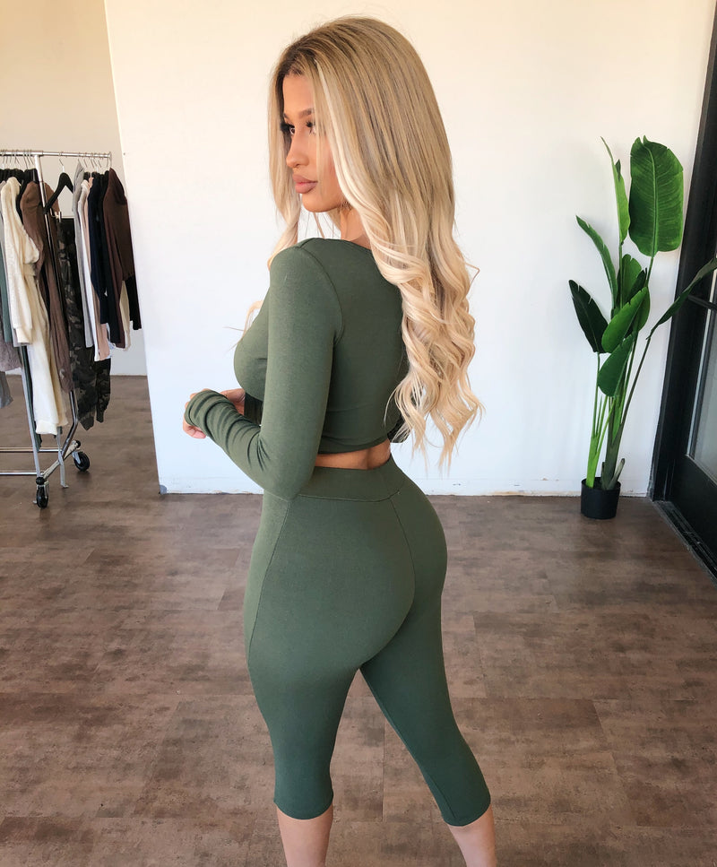 Karina Matching Set(Olive)