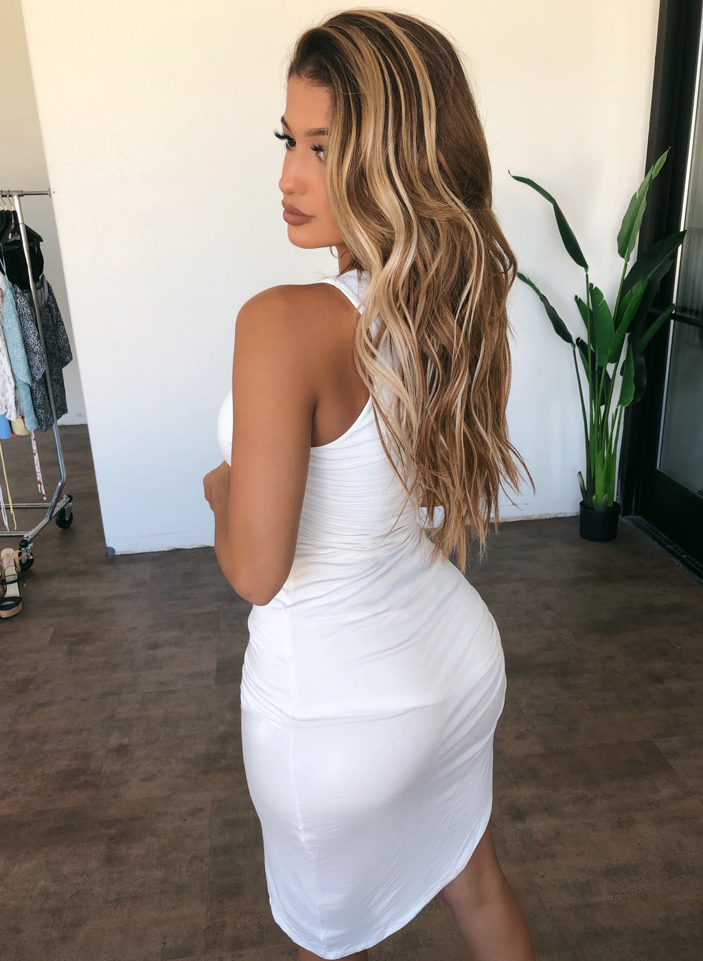 Kylie Sleeveless Dress(Ivory)