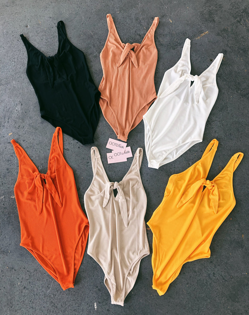 Verginia Tank Bodysuit(Orange)
