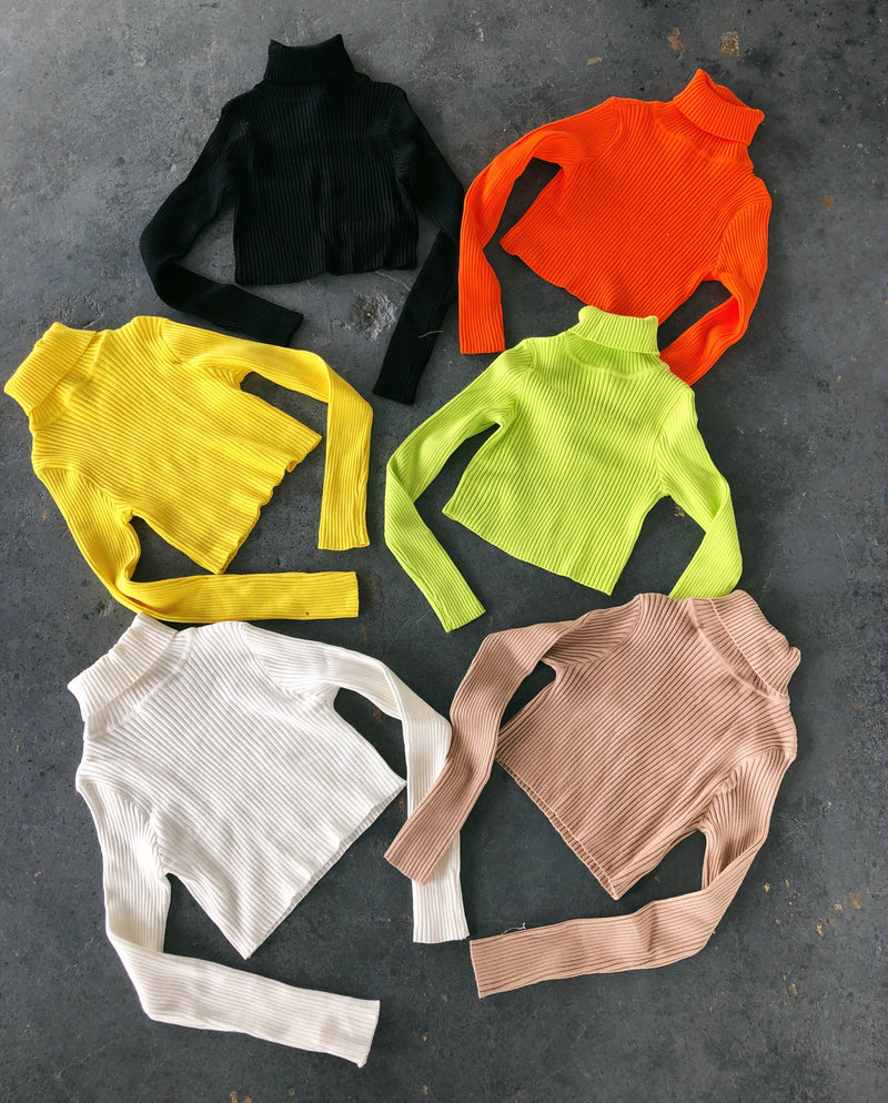 Tessa Cropped Sweatshirt(Yellow)