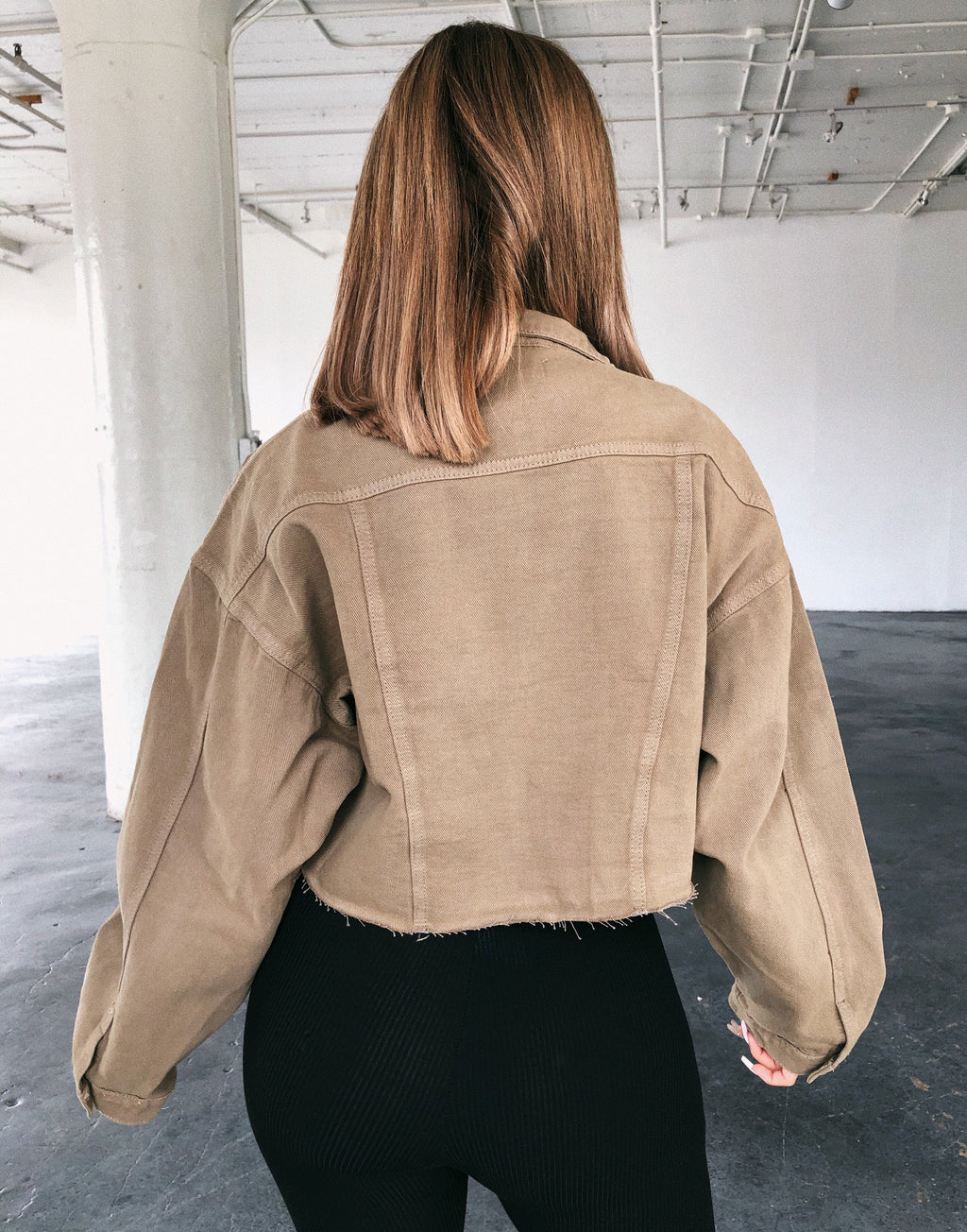 Bobby Cropped Jacket(Olive)