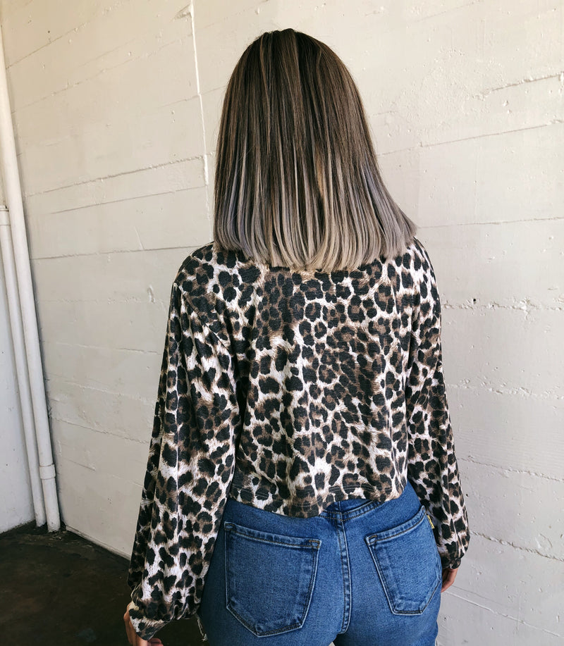 Veronica Leopard Print Top