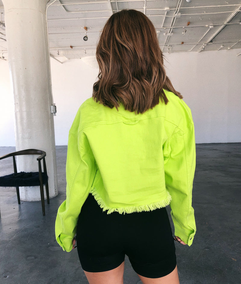 Tommy Long Sleeve Jacket(Neon Green)