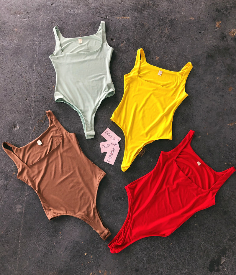 Agness Tank Bodysuit(Red)