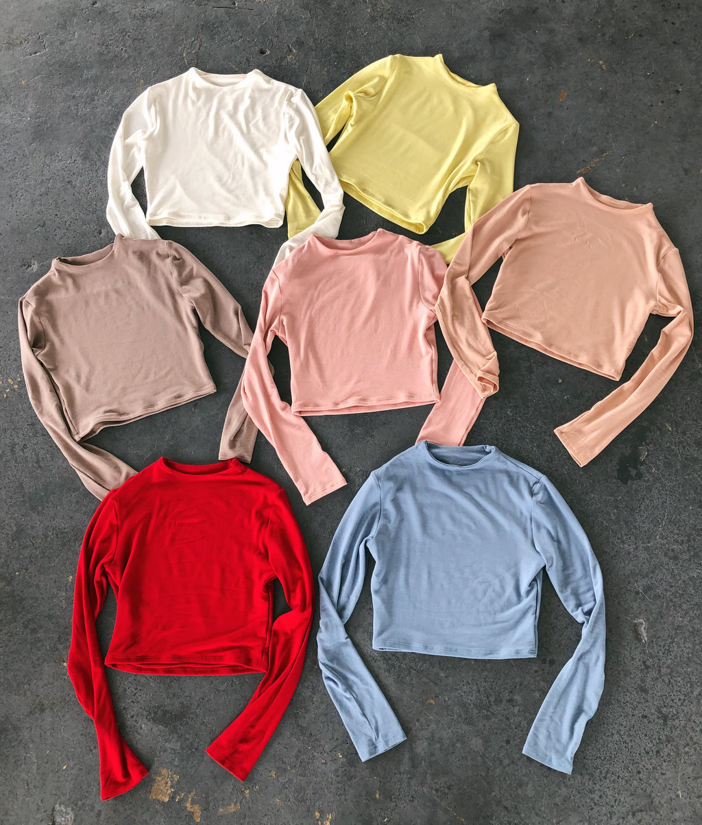 Abby Long Sleeve Top(Pink)