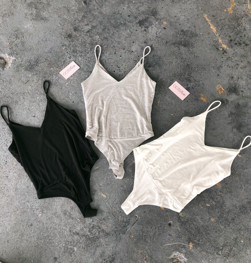 Naomi Cami Bodysuit(Heather Grey)
