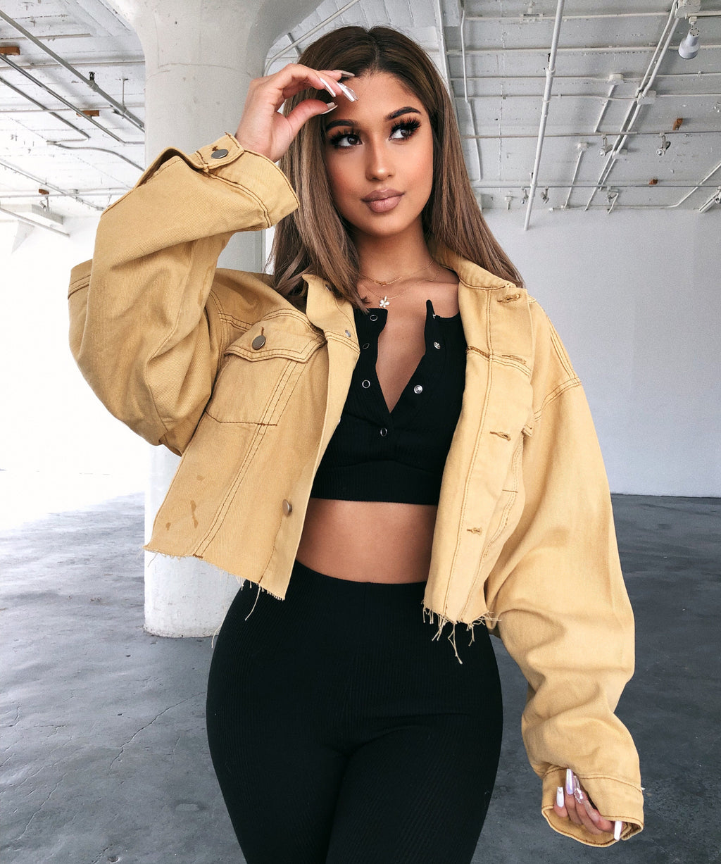 Bobby Cropped Jacket(Desert)