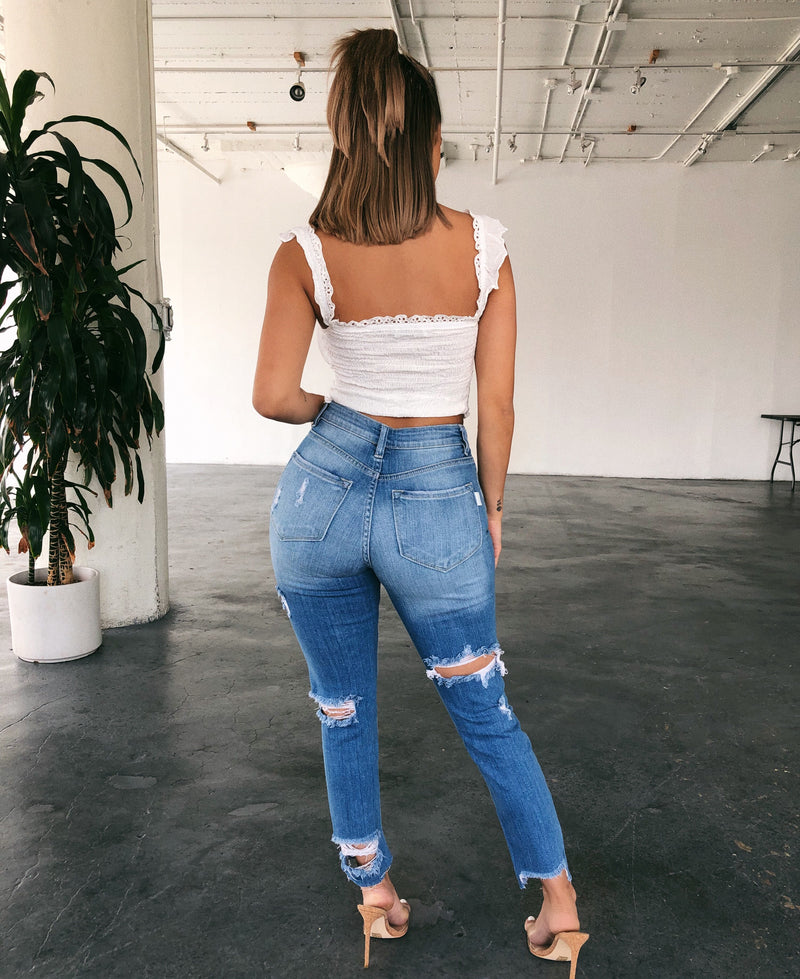 Ivan High Rise Jeans(Light Denim)