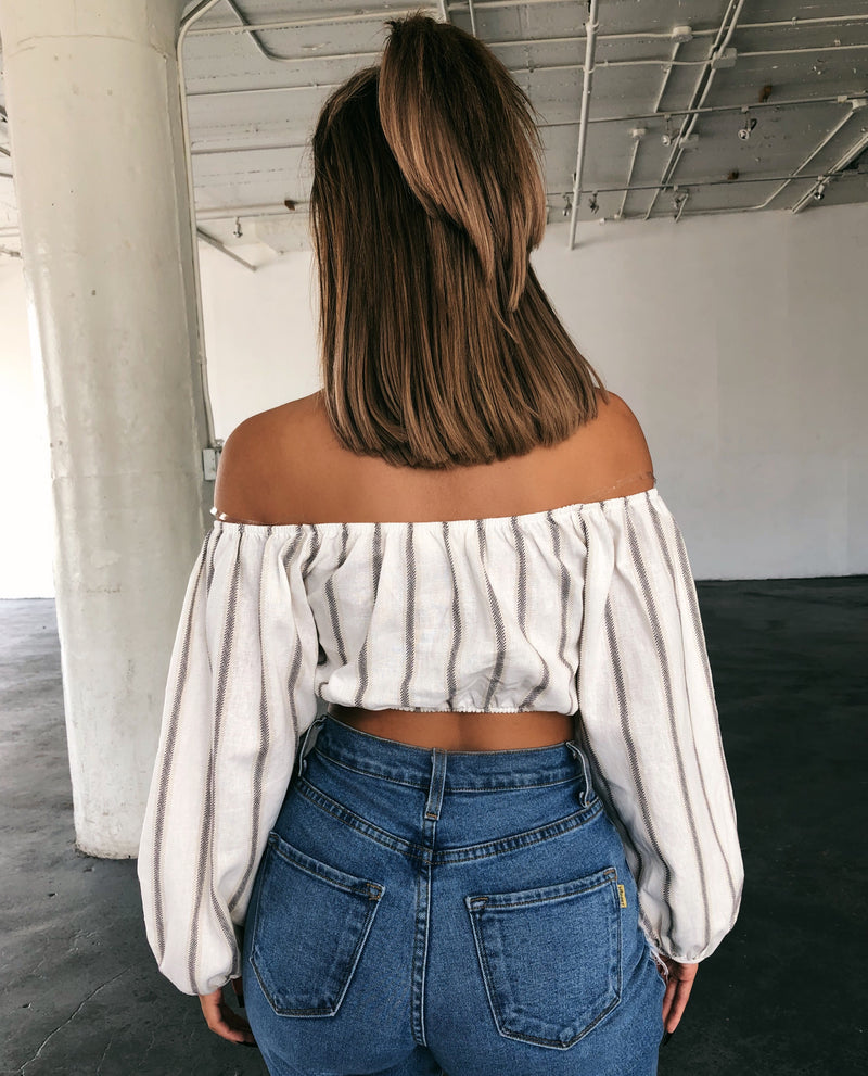 Genna Off Shoulder Top(Ivory)