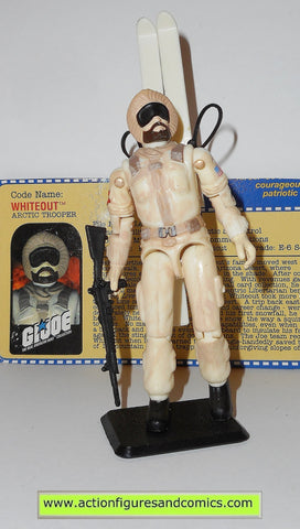 gi joe WHITEOUT SNOW JOB 2000 2001 arah hasbro toys action figures