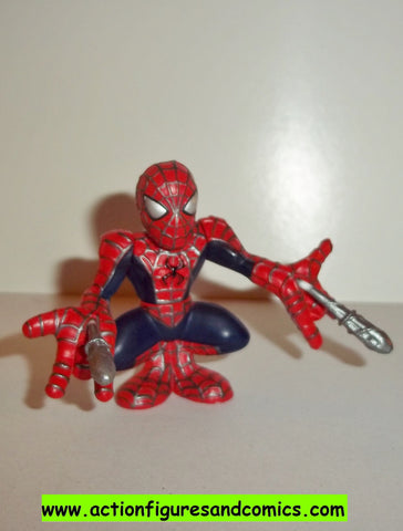 Marvel Super Hero Squad SPIDER-MAN complete movie shooting silver webs pvc action figures