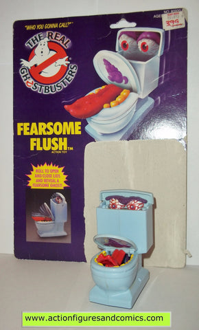 ghostbusters FEARSOME FLUSH toilet bowl 1988 the real kenner complete full card