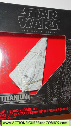 star wars titanium STAR DESTROYER first order the black series 2015 05 5 moc mib